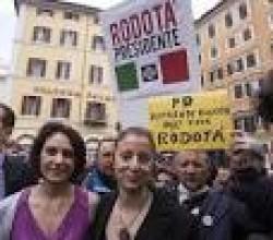La folla per Rodotà Presidente